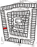 plan of castle - the house in red